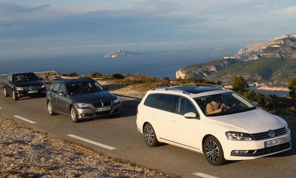 VW Passat, BMW 3er und Mercedes C: Drei Kombis im Test der AUTO ZEITUNG