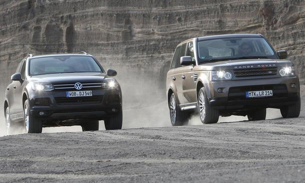Geländewagen im Vergleichstest: Range Rover Sport 3.0 TDV6 und VW Touareg V6 TDI BlueMotion Technology