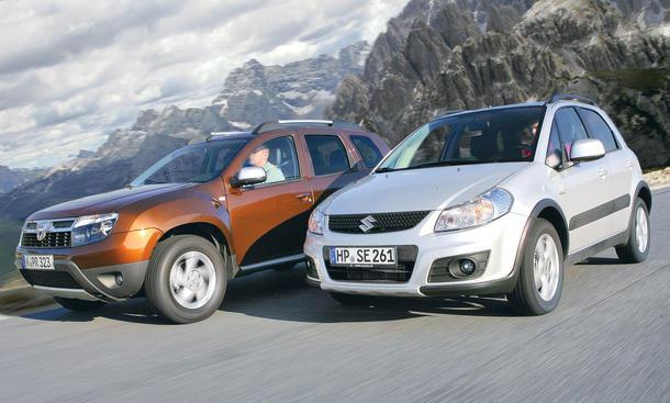 Kompakte SUV im Test der AUTO ZEITUNG: Dacia Duster und Suzuki SX4