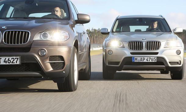 BMW X3 xDrive35i und BMW X5 xDrive35i im Test der AUTO ZEITUNG