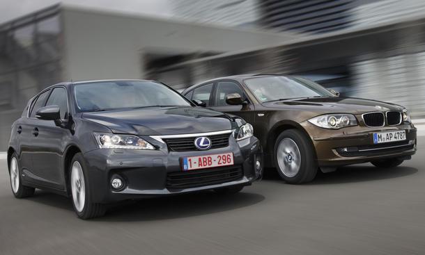 Neuer Lexus CT 200h und BMW 1er Diesel im Vergleich