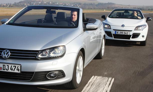 Klappdach-Cabrios: VW Eos und Renault Megane Cabriolet im Test