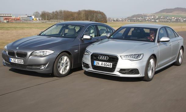 Audi A6 gegen BMW 530d im Vergleichstest