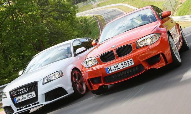 Audi RS3 Sportback gegen BMW 1er M Coupé - Kompaktsportler mit 340 PS im Test