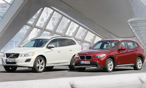 BMW X1 und Volvo XC60 im Vergleichstest der AUTO ZEITUNG