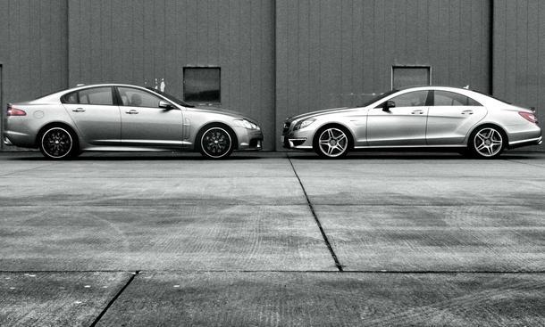 Mercedes CLS und Jaguar XFR: Sportlimousinen im Vergleich