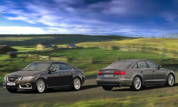 Audi A6 3.0 TFSI quattro und Saab 9-5 2.8T V6 XWD Aero im Vergleich