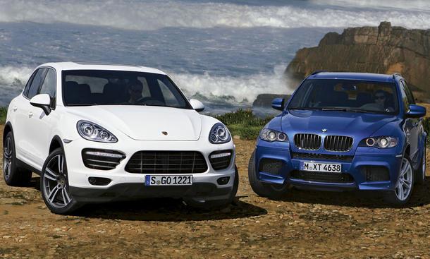 Porsche Cayenne Turbo und BMW X5 M im Vergleichstest der AUTO ZEITUNG