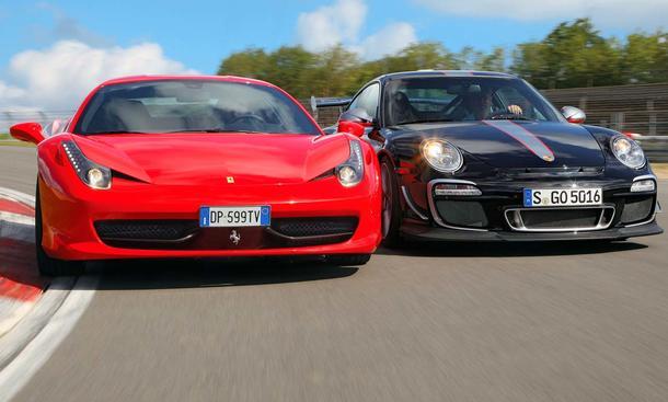 <b>Ferrari 458 Italia Porsche 911 GT3 RS 4.0 Vergleich Test</b>