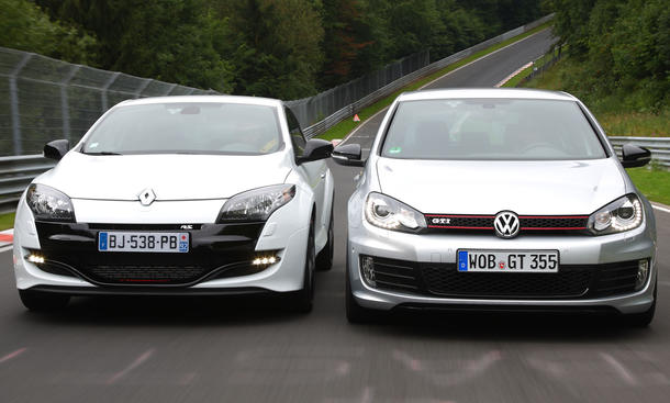 tracktest golf gti edition 35 und megane rs trophy. Black Bedroom Furniture Sets. Home Design Ideas