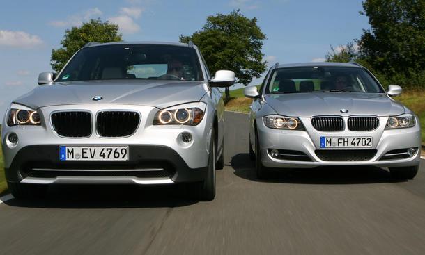 Kombi oder SUV? BMW 3er Touring und BMW X1 im Test