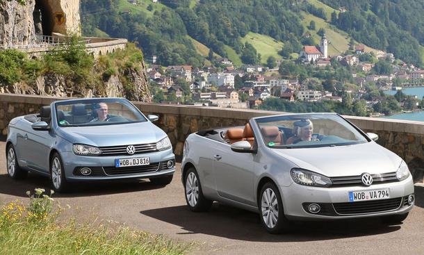 VW Eos 1.4 TSI und VW Golf Cabrio 1.4 TSI im Test