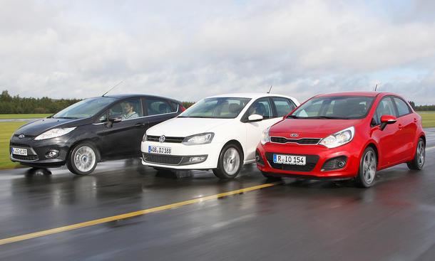 Ford Fiesta, Kia Rio und VW Polo im Kleinwagen-Vergleich der AUTO ZEITUNG