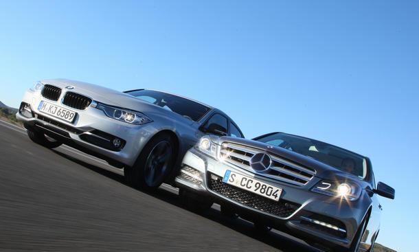 Mittelklasse-Vergleich BMW 320d und Mercedes C 220 CDI BlueEfficiency