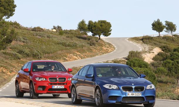Sportlimousine und Power-SUV der BMW M-Modelle im Test