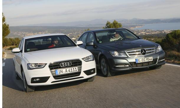 Mittelklassen Audi A4 1.8 TFSI und Mercedes C 200 BlueEFFICIENCY im Test