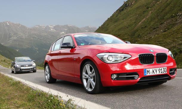 Kompaktklasse Vergleich BMW 118i und VW Golf 1.4 TSI