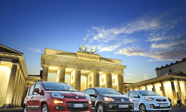 Fiat Panda, Kia Picanto und VW Up 2012 im Kleinwagentest