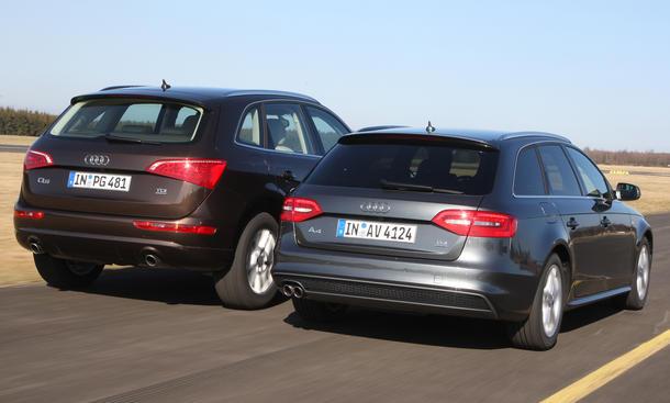 Kombi oder SUV: Audi A4 Avant 3.0 TDI quattro clean diesel gegen Audi Q5 3.0 TDI im Test