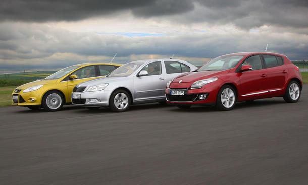 Ford Focus, Renault Mégane und Skoda Octavia im Vergleichstest