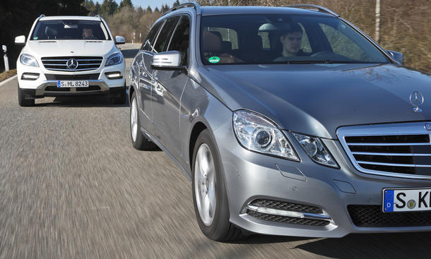 Kombi oder SUV: Mercedes E 250 gegen Mercedes ML im Test