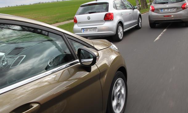 Ford Fiesta, Peugeot 208 und VW Polo im Vergleichstest
