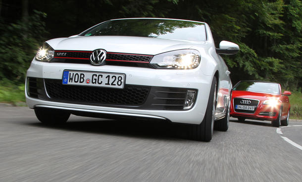 Cabriolet: Audi A3 Cabriolet und VW Golf GTI Cabriolet
