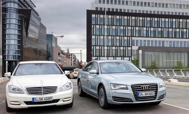 Oberklasse-Hybrid: Neuer Audi A8 gegen Mercedes S 400