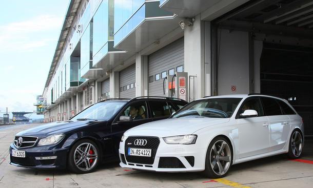 Sportkombis im Vergleich: Audi RS4 Avant gegen Mercedes C 63 AMG T-Modell