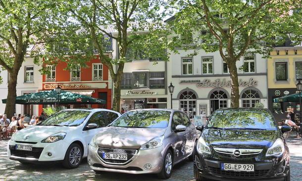Kleinwagen-Vergleichstest Peugeot 208 Renault Clio Opel Corsa