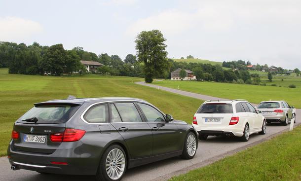 Mittelklasse-Kombis: BMW 3er Touring gegen C-Klasse T-Modell und A4 Avant