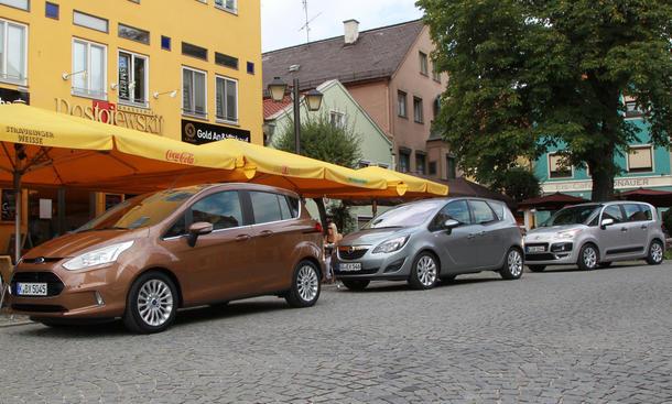 Mini-Vans: Ford B-MAX gegen Opel Meriva und Citroën C3 Picasso