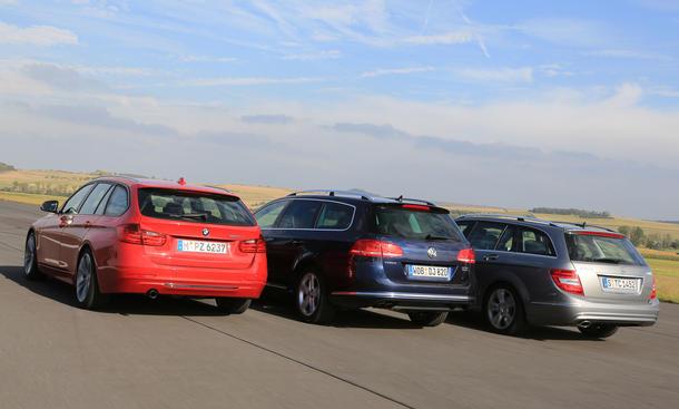 Mittelklasse Kombi-Vergleich BMW Mercedes Volkswagen