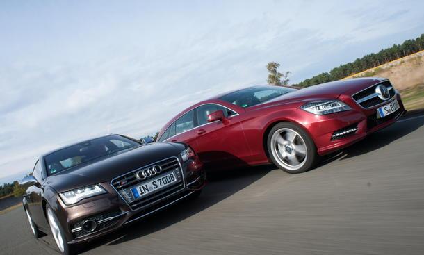 Traum-Coupés im Vergleich: Audi S7 Sportback gegen Mercedes CLS Shooting Brake