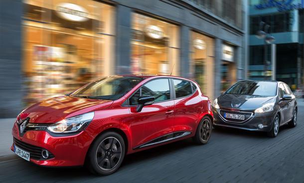 Kleinwagen-Vergleich 2012: Renault Clio Peugeot 208