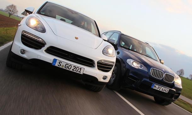 Vergleich BMW X5 M50d Porsche Cayenne S Diesel Luxus SUV Turbodiesel Vergleichstest