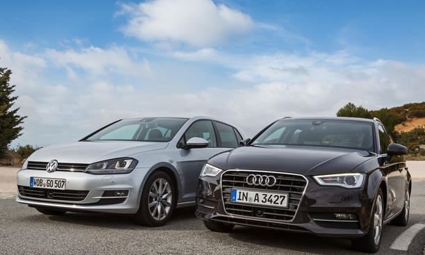 Kompaktklasse-Vergleich 2013: Neuer Audi A3 Sportback VW Golf