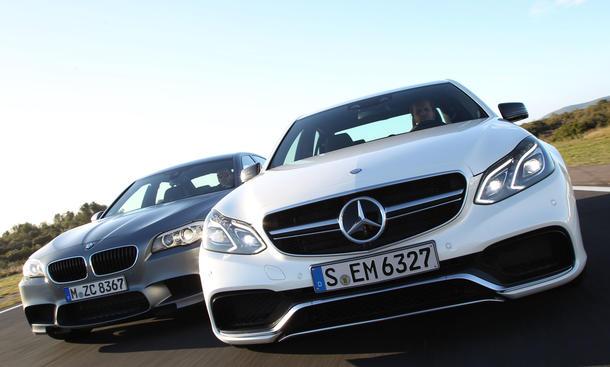 Mercedes E 63 AMG S 4MATIV BMW M5 Sportlimousinen Vergleichstest Vergleich Test
