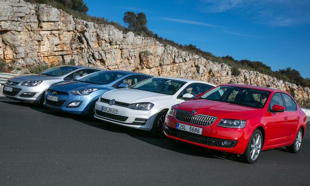 Kompaktklasse-Vergleich 2013: Skoda Octavia, VW Golf, Hyundai i30, Opel Astra