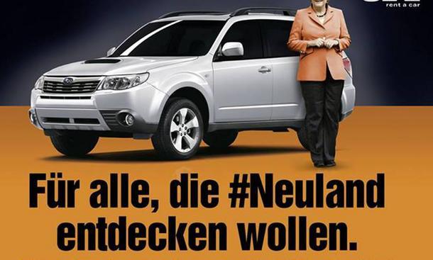 #Neuland: Sixt macht Merkel-Äußerung zur Werbekampagne