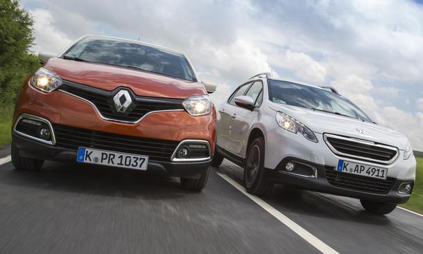 Peugeot 2008 Renault Captur Vergleichstest Crossover 2013 Bilder technische Daten