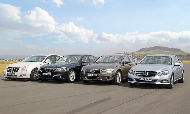 Oberklasse-Vergleichstest 2013: Mercedes E-Klasse, Audi A6, BMW 5er, Cadillac CTS