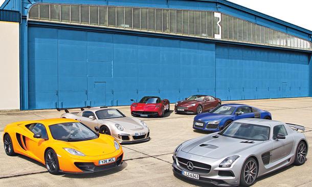 Supersportler 2013 im Vergleich: Von Audi R8 V10 plus über Pagani Huayra bis Ruf CTR 3 Clubsport
