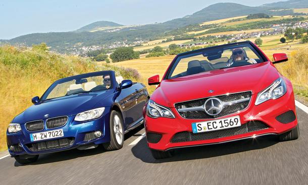 BMW 335i Cabriolet, Mercedes E 400 Cabriolet Vergleich 2013 Bilder technische Daten