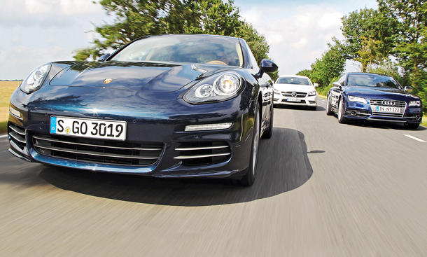 Porsche Panamera 4S, Audi S7 Sportback und Mercedes CLS 500 Shooting Brake 4MATIC: Luxuslimousinen-Vergleichstest