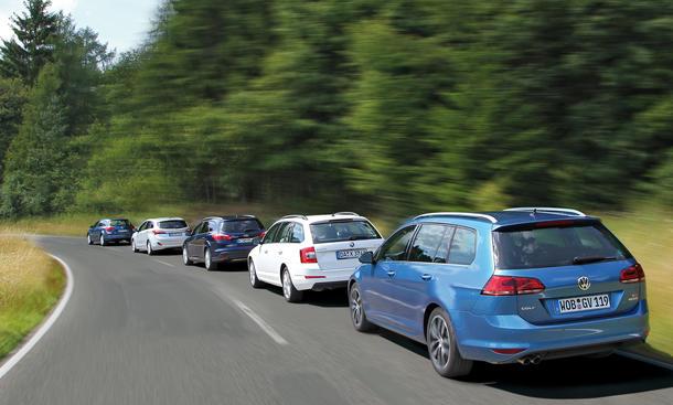 Kompaktkombi-Test 2013: Ford Focus, Opel Astra, Hyundai i30, Skoda Octavia, VW Golf