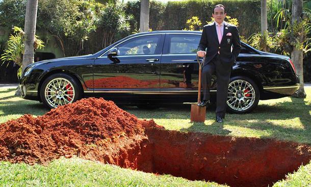Ein brasilianischer Geschäftsmann will seinen Bentley Continental beerdigen
