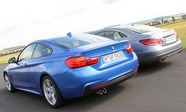 Mittelklasse-Vergleichstest 2013: BMW 428i Coupé, Mercedes E 250 Coupé