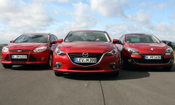 Mazda 3 Vs Ford Focus Amp Renault Megane Vergleichstest