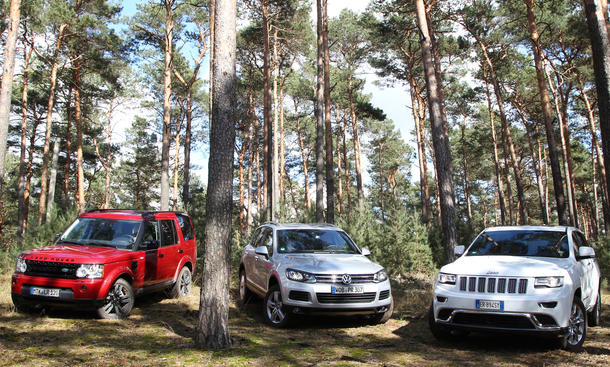 Land Rover Discovery Jeep Grand Cherokee Vw Touareg Vergleichstest